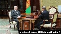 Аляксандар Лукашэнка і Віктар Шэйман