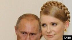 Prime Minister Vladimir Putin meets with his Ukrainian counterpart, Yulia Tymoshenko, in Moscow.
