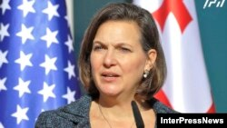 """U.S. Assistant Secretary of State for European and Eurasian Affairs Victoria Nuland hailed Georgia's """"remarkable progress"""" in developing democratic institutions."""