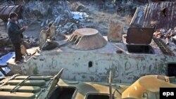 Soviet tanks ended up in Afghan scrap heaps.