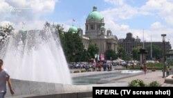 В центре Белграда, столицы Сербии.