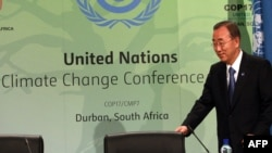 UN Secretary-General Ban Ki Moon attended the UN Climate Change Conference in Durban.