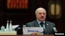 Аляксандар Лукашэнка ў Пэкіне 15 траўня 2017 году