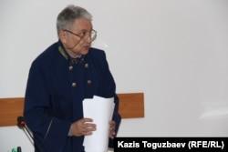 Судья Алмалинского районного суда Нариман Бегалиев после оглашения приговора. Алматы, 23 мая 2016 года.