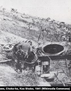 Уничтоженный советский танк