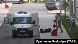 جسد بیمار مبتلا به ویروس کرونا در روسیه