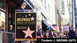 سخنرانی اندی مددیان در مراسم رونمایی از ستارهاش در پیادهروی ستارگان هالیوود