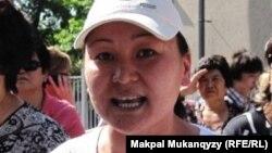 Сулубике Жаксылыкова, глава общественного объединения «Обеспечьте народ жильем». Алматы, 24 мая 2011 года.