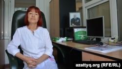 Трансплантация жөніндегі аймақтық координатор Валентина Арыстанова. Ақтөбе, 10 маусым 2017 жыл.