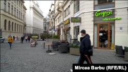 Centrul vechi din București în vremea lockdown-ului.