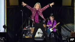 The Rolling Stones pe stadionul din East Rutherford, SUA, 1 august, 2019.