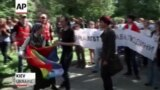 Gay-Rights Activists March In Kyiv