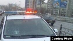 Автомобиль полицейских на улице Екатеринбурга.