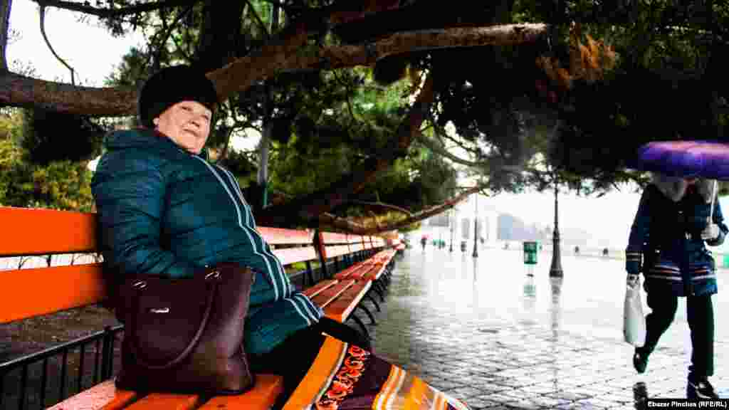 Местная жительница Антонина рассказывает о зиме в Алуште