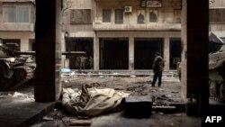 Սիրիա - Կառավարական ուժերը պարեկություն են իրականացնում Հալեպի փողոցներում, փետրվար, 2013թ.