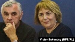 La lansarea cărții la Frankfurt, alături de traducătorul Jan Cornelius