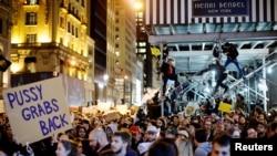Протести у Нью-Йорку, 9 листопада 2016 року
