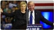 Hilari Klinton i Donald Tramp (kombo fotografija)