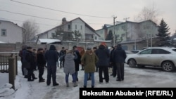 Жители городка «Ала-Арча». 17 января 2018 года.