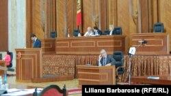 Imagine de la ședința de astăzi a Parlamentului