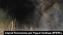 Глінскае возера. Ноч. Туман (паміж в.Стайкі і в.Вольна) / Аўтар Сяргей Платоненка