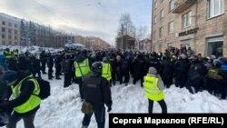 Акция протеста 31 января в Петербурге