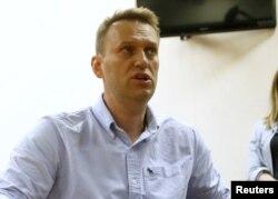 Олексій Навальний на слуханні у суді в Москві 12 червня 2017