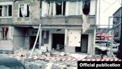 Разрушенный в результате взрыва дом в Ереване, 20 февраля 2018 г.