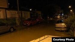 Поплавена улица во Скопје
