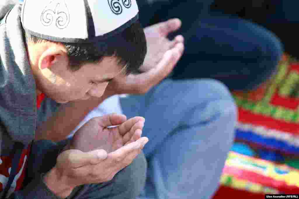 Ramadan namaz Bishkek Kyrgyzstan 29 July 2014