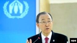 Sekretari i Përgjithshëm i Kombeve të Bashkuara, Ban Ki Moon,