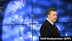 RUSSIA -- Ukraine's former president Viktor Yanukovych gives a press conference in Moscow, March 02, 2018