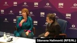 Catherine Ashton sa Jonathanom Charlesom u Sarajevu