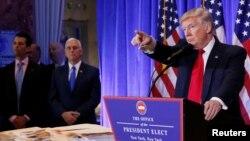 Дональд Трамп на пресс-конференции 11 января 2017 г.