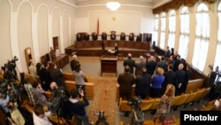 Armenia - The Constitutional Court announces a ruling, Yerevan, 14Mar2013.