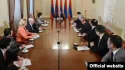Armenia -- President Serzh Sarkissian meets the representatives of Armenian media, Yerevan, 18Mar2013.