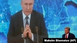 Dmitri Peskov, purtătorul de cuvânt al președintelui rus Vladimir Putin. 17 decembrie 2020