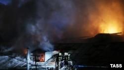 Пожар в здании на Стромынке, Москва.