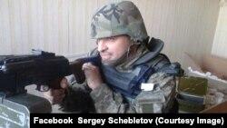 Сергей Щеблетов на боевой позиции. Зона АТО