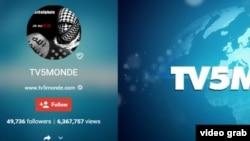 Faqja e sulmuar e TV5 Monde