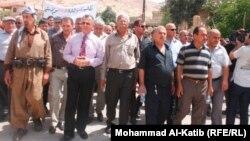 تظاهرة في ناحية القوش