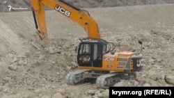 Земляні роботи в Білогірську в рамках будівництва траси «Таврида»