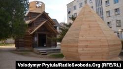 Дерев'яний храм в Євпаторії, архівне фото