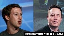 Mark Zuckerberg (solda) and Elon Musk (sağda)