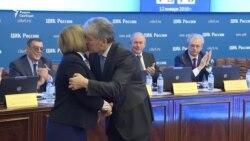 Первый поцелуй кандидата Грудинина