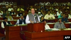 "Addressing parliament on June 24, Prime Minister Nawaz Sharif said Musharraf's actions ""constituted an act of high treason."""