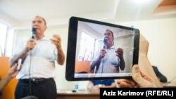 Ադրբեջան - Նախագահական ընտրություններում ընդդիմադիր Ազգային խորհրդի թեկնածու Ջամիլ Հասանլի, Բաքու, 23-ը օգոստոսի, 2013թ.