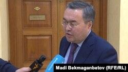 Мұхтар Тілеуберді, Қазақстан сыртқы істер министрінің орынбасары. Астана, 16 сәуір 2018 жыл.