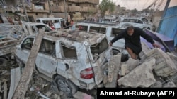 Mesto eksplozije u Bagdadu