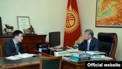 Айбек Калиев и Алмазбек Атамбаев.